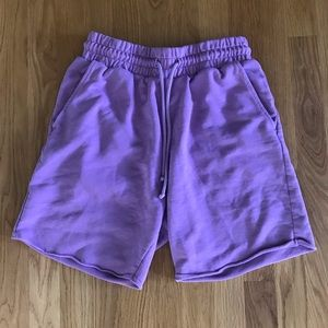 H&M | Purple Sweat Shorts